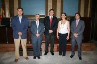 De izquierda a derecha, Rafael Blanco, Miguel Moreno, José Carlos Gómez, Eva Noguero y Daniel García