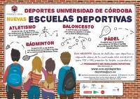 Cartel anunciador de las Escuelas Deportivas de la UCO