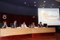 Un momento de la inauguración del congreso en el Salón de Actos del Rectorado de la Universidad de Córdoba.