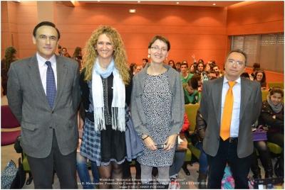 De izq. a dcha, Jose Carlos Gómez, Elena Gómez, Bárbara Muscynska y Francisco Villamandos en el acto inaugural del curso