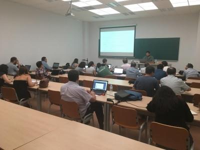 Asistentes a la formación FIWARE Zone celebrada en el Campus de Rabanales de la Universidad de Córdoba.
