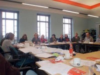 Unmomento de la reunión celebrada en Leicester