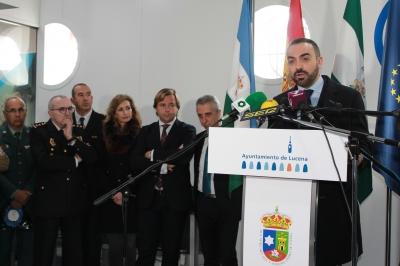 El vicerrector de Estudiantes, Alfonso Zamorano, durante su intervención en el acto inaugural del Salón