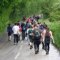 Senderistas realizando una ruta