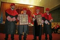 De izquierda a derecha, Manuel Torres, José María García Marín, Luis Cosculluela y Manuel Rebollo, tras la investidura.
