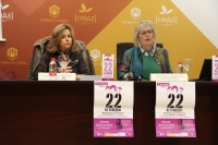Rosario Mérida y Rafaela Pastor durante la presentación