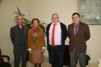 De izq a dcha, Zenón Martínez, Pilar León, Enrique Aguilar y Jose Romera
