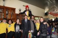 El rector (en el centro) con los responsables del proyecto Circuni