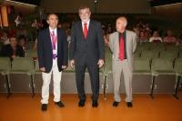 De izquierda a derecha, Santiago Sánchez, José Manuel Roldán y Antonio Sola