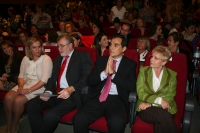 De izquierda a derecha,  Mª Jesús Serrano, José Manuel Roldán, José Antonio Nieto y Elenba Víboras