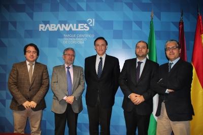 De izq a dcha, Juan Ramón Cuadros, Manuel Pineda, Jose Carlos Gómez, Enrique Quesada y Jose Antonio Gómez