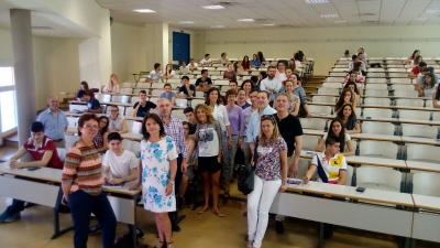 Estudiantes durante la prueba