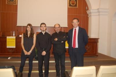 De izquierda a derecha,  Ana María Castillejo, Pablo Cabezuelo, Ciro Perelló y Eulalio Fernández.