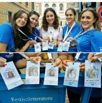 Las alumnas de la UCO que han participado en el Fesitval Letteratura de Mantua