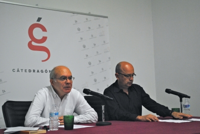 Justo Navarro y Joaquín Roses