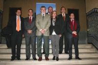 Autoridades asistentes a los actos organizados en la UCO con motivo del Día de la Persona Emprendedora