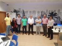 Miembros de Fiware Zone Málaga y de la Universidad de Córdoba tras la reunión.