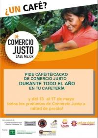 Las cafeterías universitarias ofrecerán productos de Comercio Justo del 13 al 17 de mayo