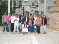 Foto de familia del grupo participante en el viaje