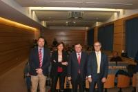 De izq. a dcha., Diego Gil Barroso, Carmen Tarradas Iglesias y Francisco José Zurera Aragón