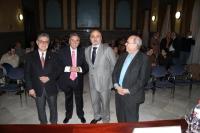 De izquierda a derecha, Bernabé Gálán, Alfonso Delgado, Isaac Túnez y Ramón Cañete al inicio de la presentación.