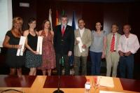 Autoridades y premiados en la entrega de los premios de Innovación Docente