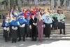 Las autoridades académicas a la salida del acto ofical de Apertura de Curso