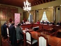 Un momento de la sesión extraordianaria del Pleno del Consejo Social celebrada hoy