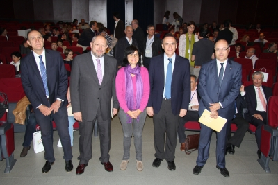 De izquierda a derecha, Manuel Vaquero, Manuel Torralbo, Amparo Pernichi, José Carlos Gómez Villamandos y Antonio José Cubero.