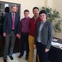 La vicerrectora de Relaciones Internacionales, a la derecha, con Francisco Sánchez Tortosa y representantes de las universidades rusas