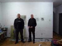 Gómez Losada y Serrano, en el estudio donde preparan Emsamble
