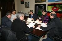 Un momento de la reunión del Patronato de Fundecor