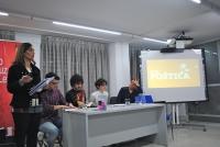 De izquierda a derecha, Carmen M. Martínez, Carlos Catena, Ángelo Néstore, Carmen Rocamora y Javier Fernández.