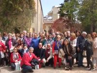 Foto de familia de los participantes en el viaje a La Rioja