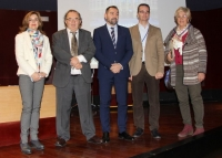 De izquierda a derecha: Rosario Mérida Serrano, José Orihuela Calatayud, Antonio Fernández-Martínez, Francisco José Moreno Fernández y Esperanza Jaqueti Peinado