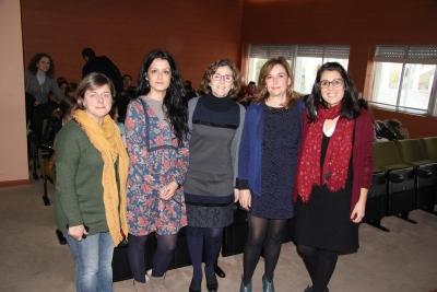 De izquierda a derecha, Angélica Olivares, Beatriz Corpas, Mª del Mar García, Rosario Mérida y Elena González.