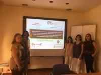 Imagen de las investigadoras durante la reunión final del proyecto.