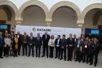 Foto de familia de autoridades y entidades organizadoras y colaboradoras de Datagri 2018