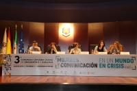 De izquierda a derecha, Gervasio Sánchez, Maruja Torres, Rosa Aparicio, Mónica García Prieto y Mónica Bernabé