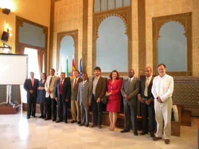 Representantes de la Universidad José Eduardo dos Santos (Angola), el Instituto Superior Politécnico de Gaza (Mozambique), la UCO, y otras instituciones académicas internacionales
