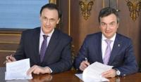 Los rectores de Cádiz y Córdoba, en la firma del convenio