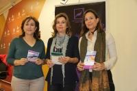 De izquierda a derecha, María Rosal, Rosario Mérida y  Ana María Guijarro