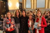 De izqda. a dcha. María Rosal, Marta Jiménez, Juana Guerrero, Anna Freixas y Rosario Mérida
