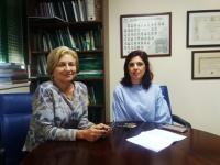 Las investigadoras Carmen Galán y Herminia García Mozo