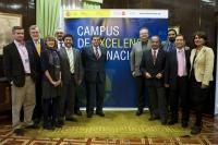 La delegación del proyecto CamBio momentos antes de la presentación