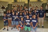 Los niños que han participado en el Campus Tecnológico MindTech, esta mañana en Rabanales.