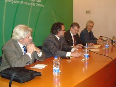 De izq a dcha, Jose Maria Valls, Ramón López, Jose Manuel Roldán y Jose Manuel Sánchez Ron