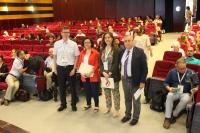 La vicerrectora de Investigación de la UCO, Maria Teresa  Roldán, junto a organizadores del XV Congreso en la inauguración