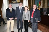 De izq a Dcha, Jose Maria Valls, Jose Manuel Roldán,Celia Fernández y Juan Antonio Caballero