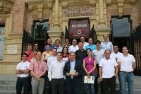 Los participantes en el curso, junto al director del mismo, Anselmo Perea (en el centro)